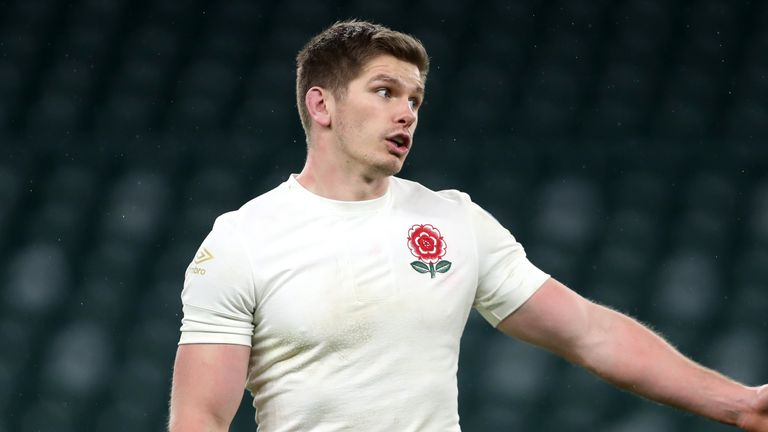 Skipper Owen Farrell was unable to inspire England against Scotland