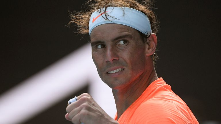 Rafael Nadal swept aside Fabio Fognini at the Australian Open