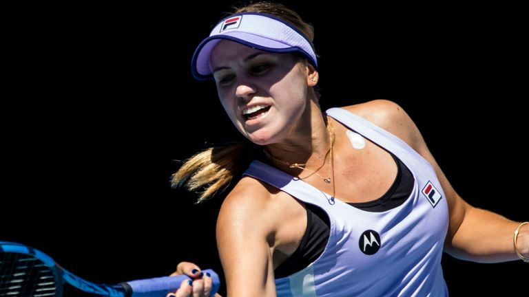 Sofia Kenin has always worn her heart on her sleeve and was candid about her emotions after her opening win at the Australian Open (Photo by Jason Heidrich/Icon Sportswire) (Icon Sportswire via AP Images)