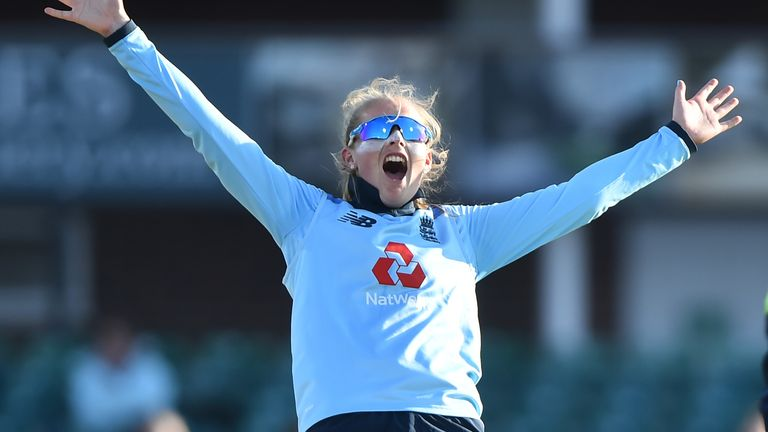 Sophie Ecclestone scored a half-century and took two wickets