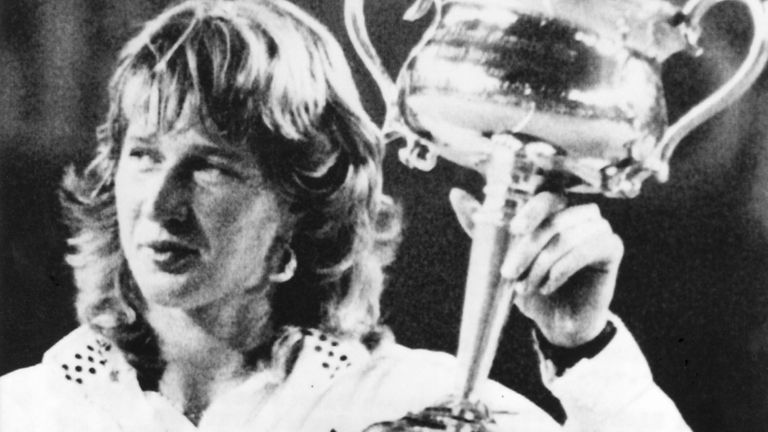 Steffi Graf is another four-time winner of the Australian Open