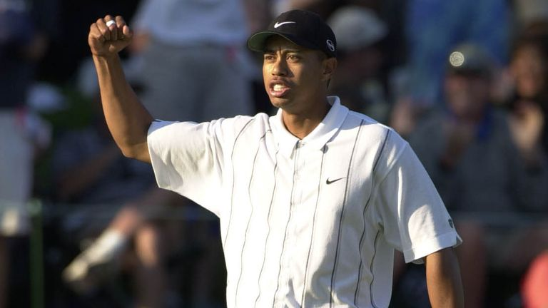 Tiger Woods produced a moment of magic on the 17th green during the 2001 Players Championship