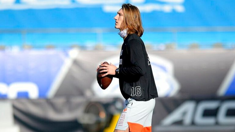 Watch as Clemson quarterback Trevor Lawrence is put through his paces at his pro day.
