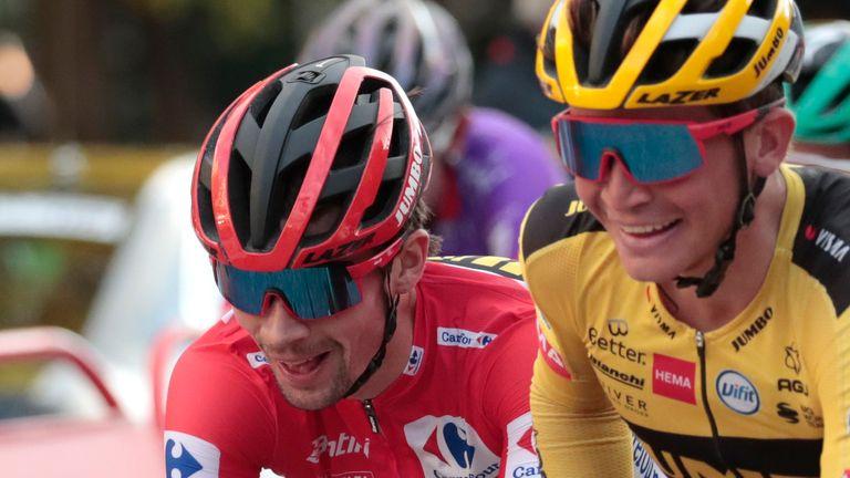 Primoz Roglic (left) won last year's Vuelta a Espana