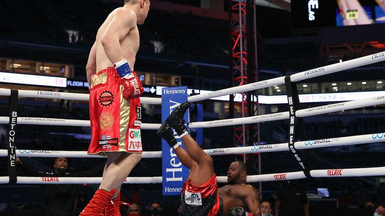 Zhang had Forrest on the verge of defeat but tired