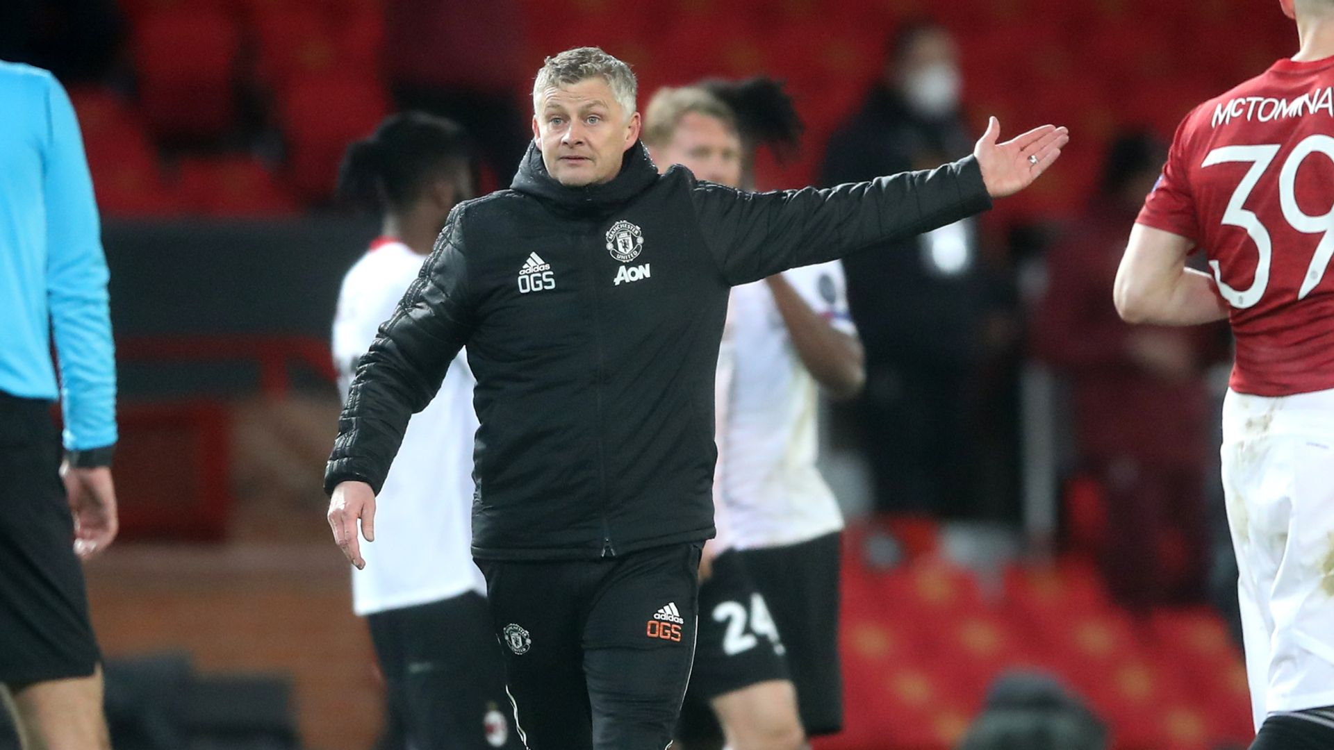 Ole frustrated by Milan leveller and Martial injury