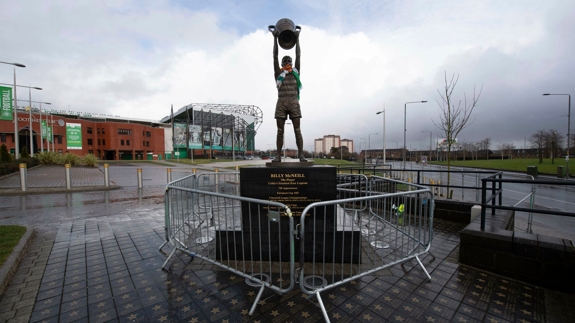 Celtic put fences up around stadium