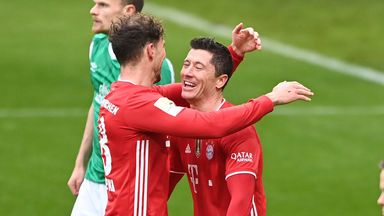 Robert Lewandowski now sits behind only Gerd Muller in the all-time Bundesliga goalscoring ranks