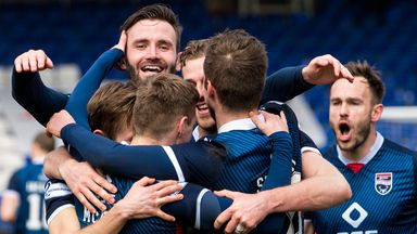 Ross County celebrate after scoring against Kilmarnock