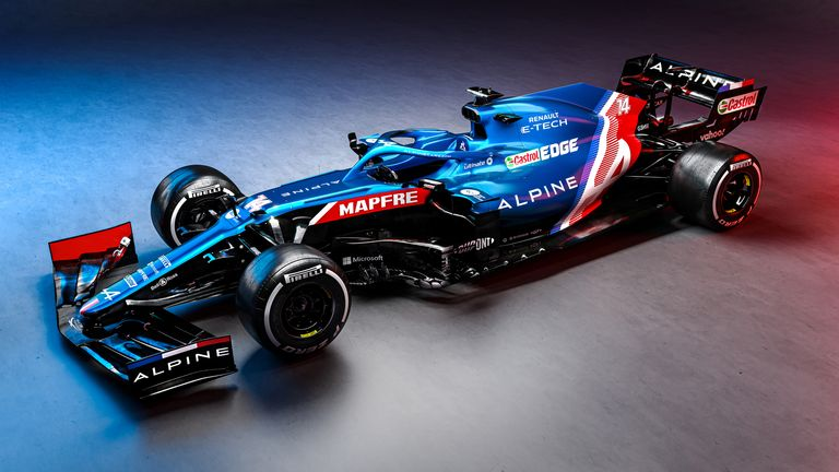 Alpine F1 reveals blue car for debut in 2021 as renamed Renault team kicks off new era