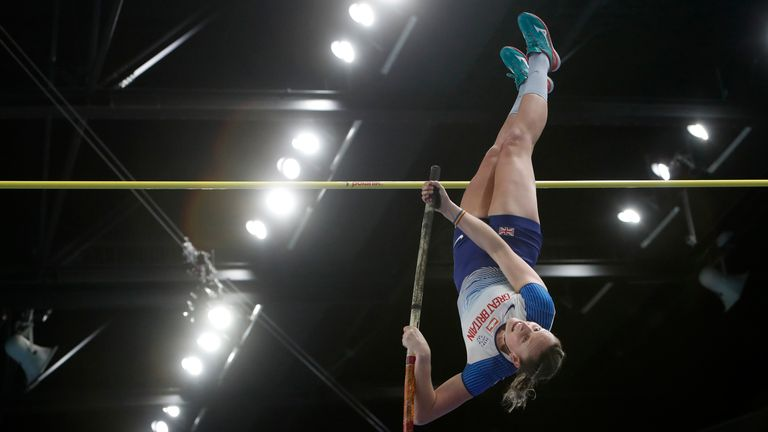 Holly Bradshaw was also a bronze medallist in the pole vault