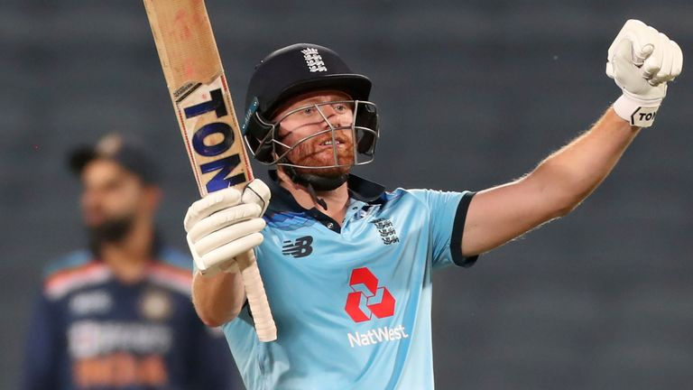 England's Jonny Bairstow followed up his 94 in the first ODI with his 11th ODI century in the second ODI, in Pune