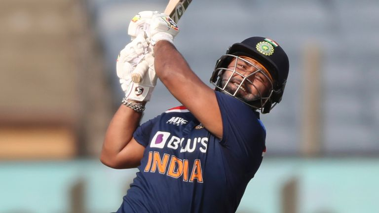 Rishabh Pant attacked England's death bowling, striking seven sixes and three fours