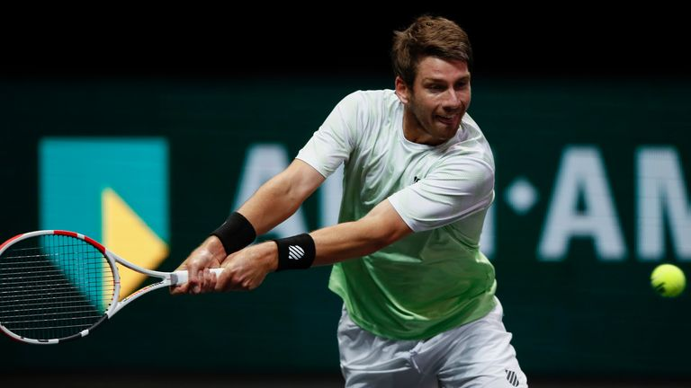 The world No 65 needed just 63 minutes to secure victory