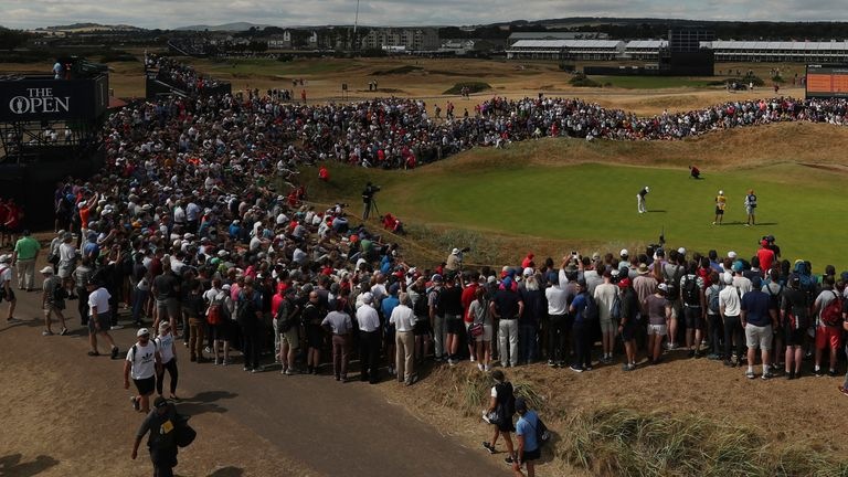 There was a huge attendance for the 147th Open at Carnoustie in 2018