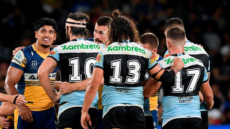 Cronulla Sharks ended up with no players on the bench when they lost to Parramatta Eels at the weekend