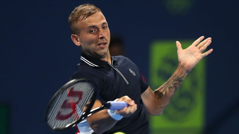 Dan Evans has been training with Federer in Qatar but came up short in the decisive moments in Doha