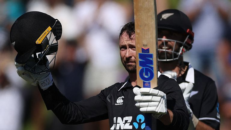 Devon Conway hit his maiden ODI century for New Zealand as they swept Bangladesh