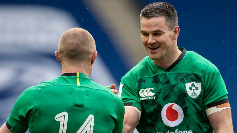 Keith Earls and Jonathan Sexton both played starring roles for Ireland