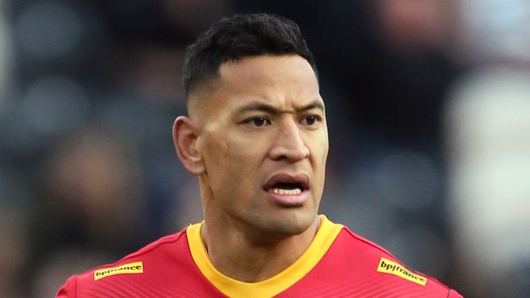 Israel Folau has an uncertain future with Catalans Dragons