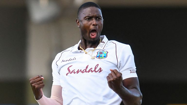 Former skipper Jason Holder took 5-27 as West Indies bowled Sri Lanka out for 169 in Antigua