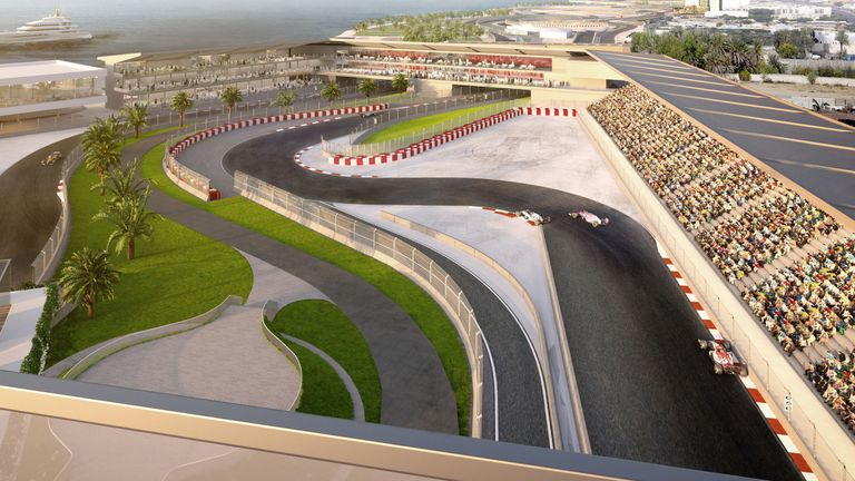 Another aerial mock-up of F1's newest street track. Formula 1 image