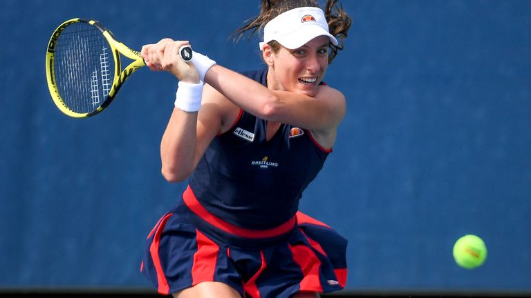 Johanna Konta faces Magda Linette in her opening match (Rhea Nall/USTA via AP)