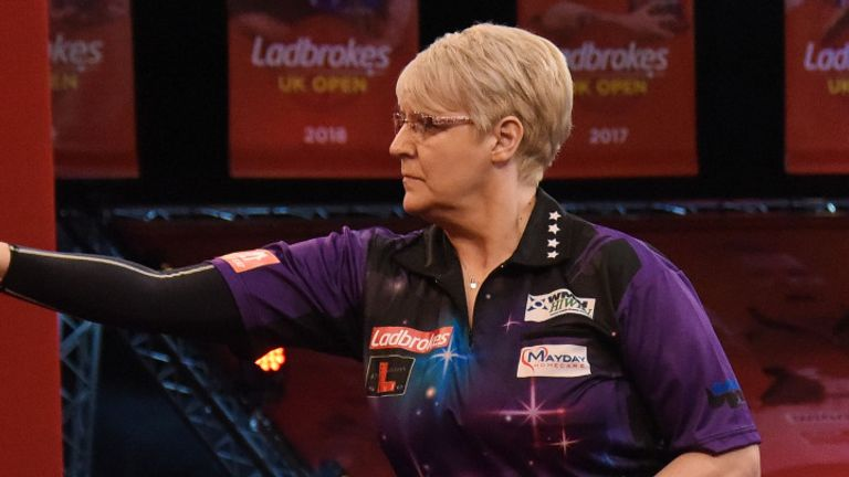 Lisa Ashton set a new women's scoring record on day one of the UK Open