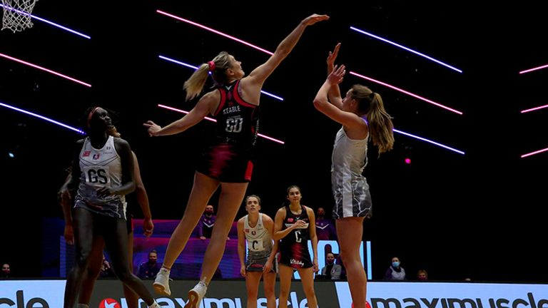 Loughborough Lightning made it six wins from seven games to stay top of the Vitality Superleague table (Image: Ben Lumley)