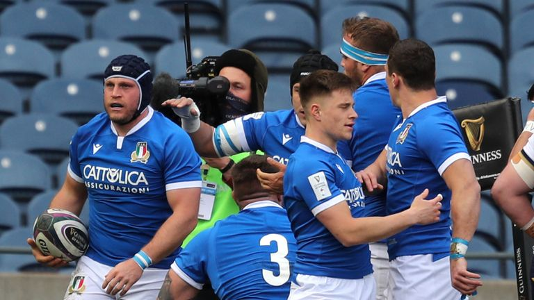 Luca Bigi got Italy off to the perfect start with a try in the corner