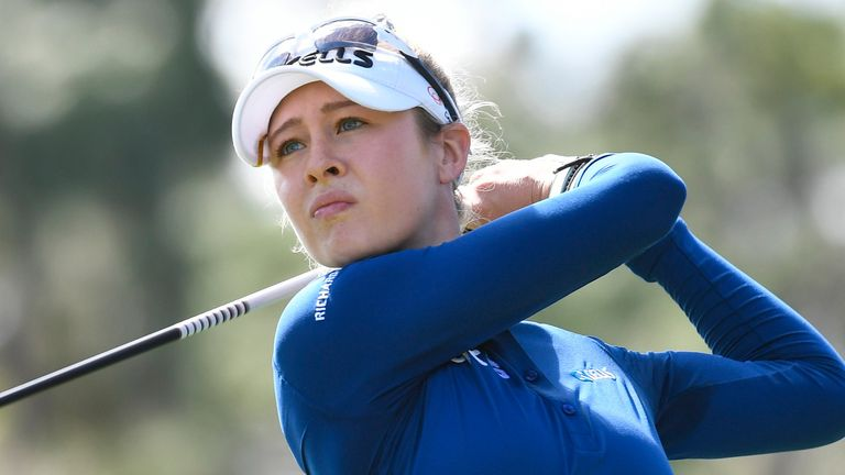 Nelly Korda shares the first round lead on five under