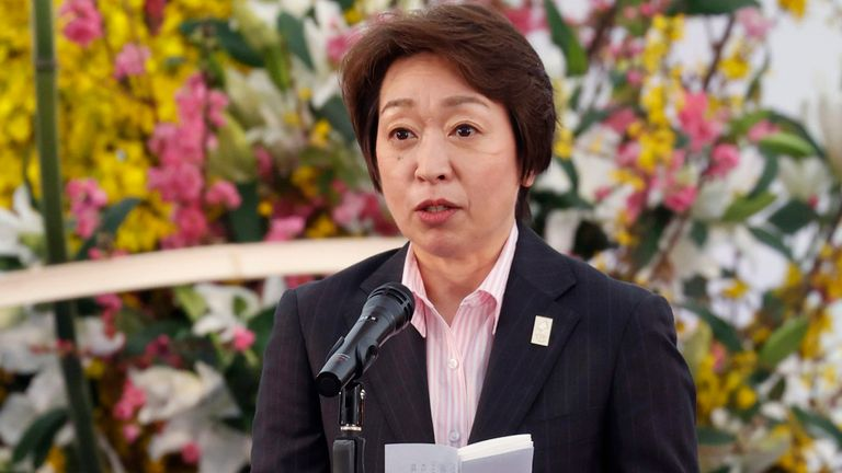 Seiko Hashimoto, chairman of the Tokyo Organising Committee of the Olympic and Paralympic Games, attended the torch ceremony