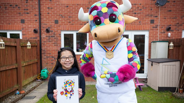 Perry is inspired by the design of 10-year-old Emma Lou, the winner of a national design competition