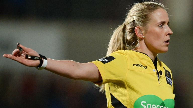 Joy Neville has worked as a TMO during this year's Six Nations