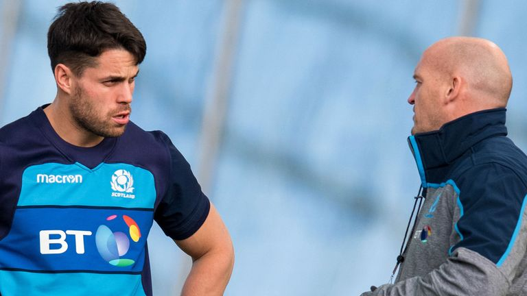 Townsend will be without Saracens wing Sean Maitland (left) for Friday's game with France