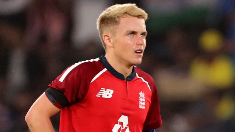 Sam Curran took 1-22 from four overs for England in the second T20 international against India on Sunday