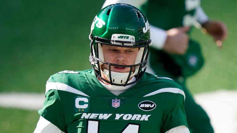 New York Jets quarterback Sam Darnold (AP Photo/Corey Sipkin)