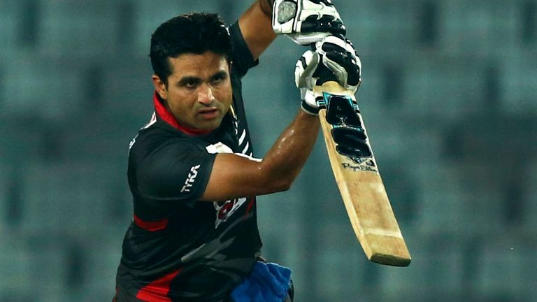 Shaiman Anwar (pictured) and fellow UAE player Mohammad Naveed have been banned from all cricket for eight years