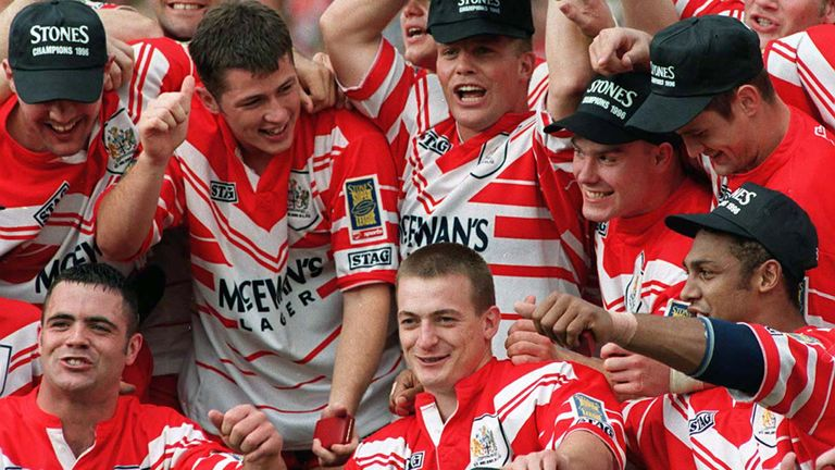 Alan Hunte and Tommy Martyn were part of St Helens' 1996 title-winning team