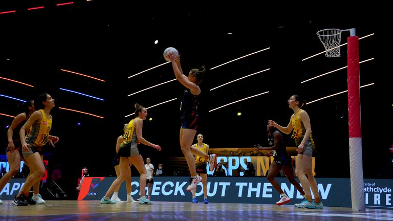 Strathclyde Sirens and Wasps Netball delivered a cracker on Sunday (Image Credit - Ben Lumley)