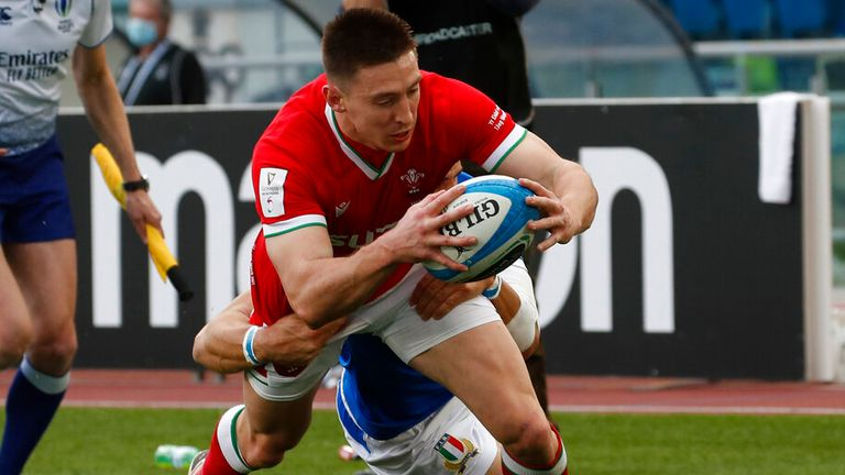 Wales' Josh Adams has made the cut in Roberts' XV on the wing