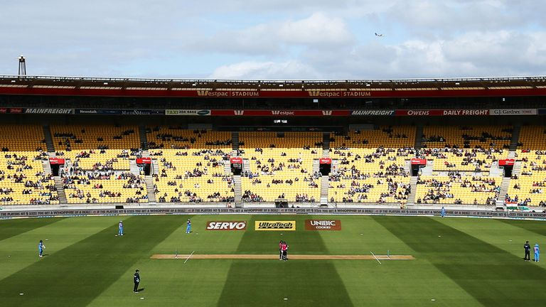 Wellington Regional Stadium will stage the final three matches of the T20 series behind closed doors