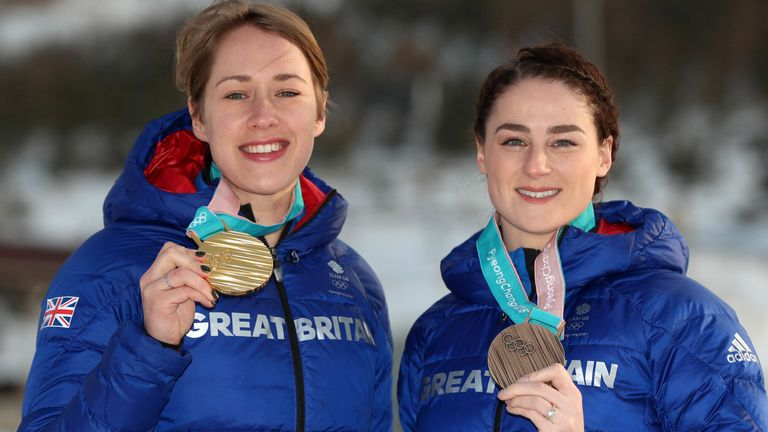 Lizzy Yarnold (left) and Laura Deas (right) won gold and bronze medals respectively at the PyeongChang 2018 Winter Olympic Games in South Korea