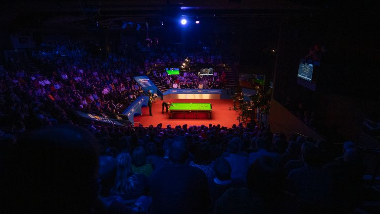 The World Snooker Championships in April will be used as a pilot event to test return of spectators