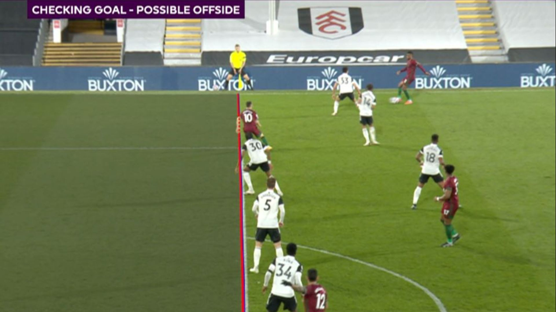Premier League VAR to use 'thicker lines' for offside calls next season