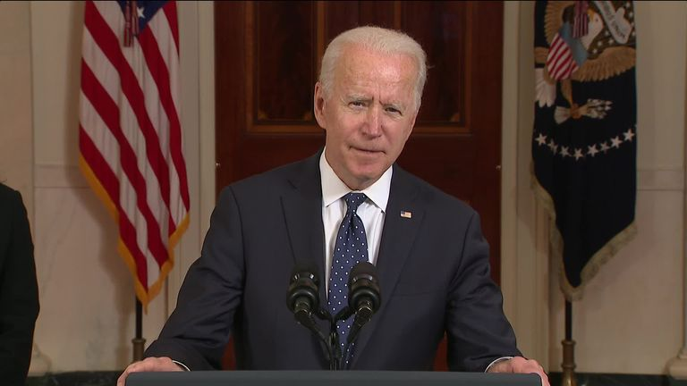 US president Joe Biden says the verdict to unanimously convict Chauvin for the murder of Floyd is a step forward in the march towards justice in America