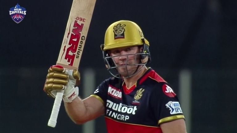 AB de Villiers smashed five sixes in his unbeaten 75 from 42 balls