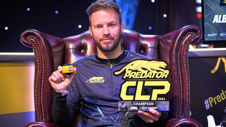 Albin Ouschan claimed the inaugural Predator Championship League Pool title (Pic courtesy of JP Parmentier / Matchroom Multi Sport)