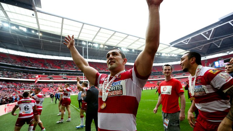 Leigh's Ben Flower won the Challenge Cup with Wigan in 2013
