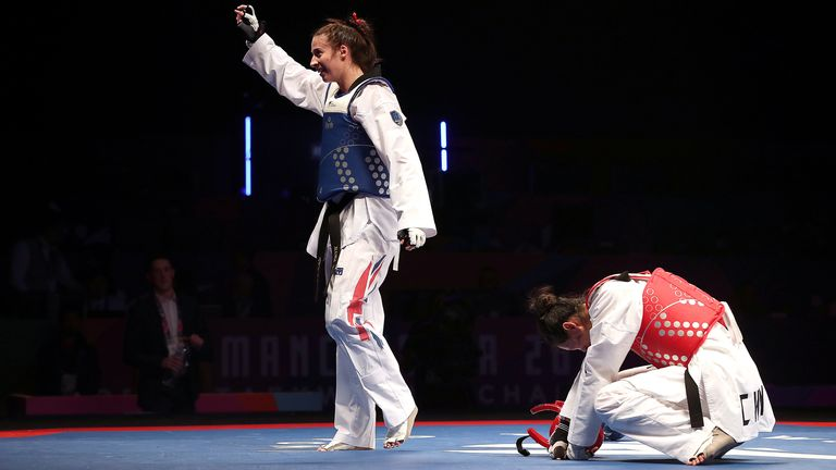 Walkden beat China's Shuyin Zheng in controversial fashion at the World Championships, with her opponent disqualified on penalty points